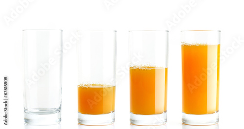 canvas print picture Orange Juice gradient fill