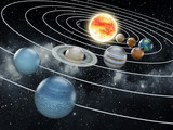 Fototapety Solar system illustration