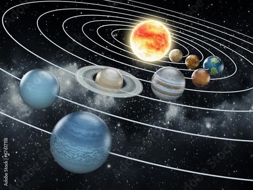 Solar system illustration - 67617118