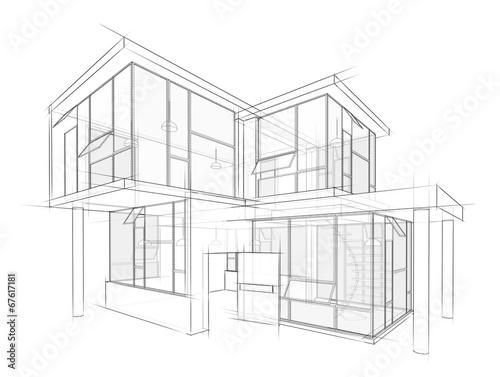 canvas print picture Architektur Entwurf