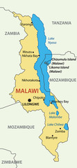 Republic of Malawi - vector map