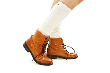 Vintage fashion shoes and white half-hose