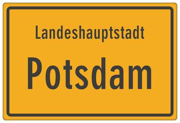 Schild Landeshauptstadt Potsdam