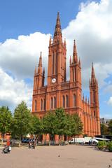 Wiesbaden, Marktkirche, Schloßplatz (Juli 2014)