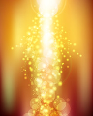 Bright Glowing Christmas Bokeh Background Vector Illustration
