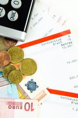 kontoauszüge und bargeld in euro