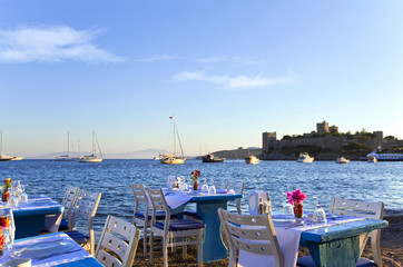 A characteristic restaurant at the sea side in Bodrum