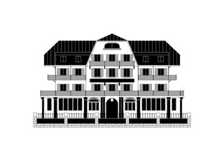 Swiss Chalet Vector Illustration