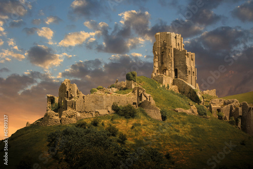 magical medieval corfe castle