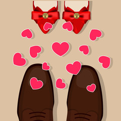 Shoes and hearts