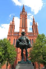 Wiesbaden, Wilhelm I. vor Marktkirche (Juli 2014)