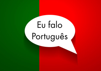 Vector Sign Speaking Portuguese