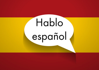 Vector Sign Speaking Spanish
