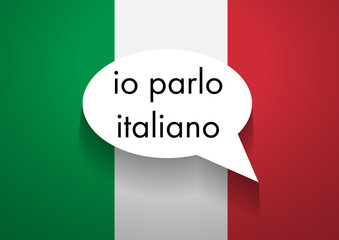Vector Sign Speaking Italian