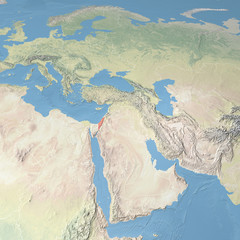 Planisfero mappa Israele