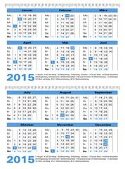 Taschenkalender mit Lineal