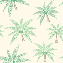 Palm tree vector seamless pattern