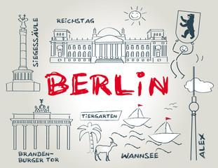 Berlin, Wahrzeichen, illustration