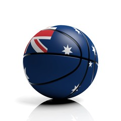 Basketball ball flag of Australia isolated on white background