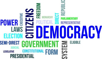 word cloud - democracy