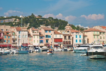 The town of Cassis in the French Riviera