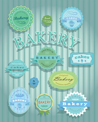 Collection bakery labels