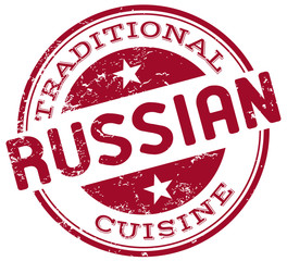 traditional russian cuisine stamp