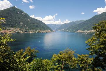 Lake Lecco, a branch of Lake Como, Italy