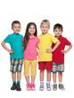 Portrait of four little friends