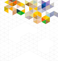 Abstract colorful modern geometric template and space for text,