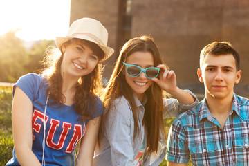 Cute young beautiful teens