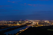 canvas print picture - Wien, Panorama in der Nacht