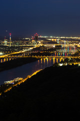 Wien, Panorama in der Nacht