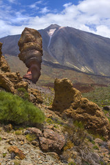 View of the Rogues de Garcia and Teide volcano