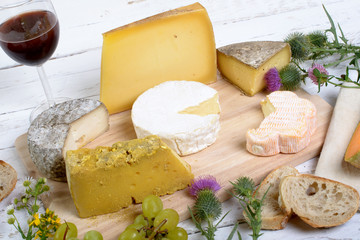 assortiment de fromages français