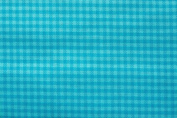 checkered fabric of turquoise color
