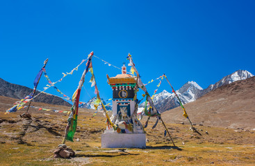 Tibetian prayer place in the North India