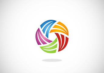 circle abstract vector logo