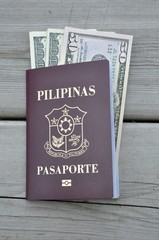 Dollars inserted in Philippine passport