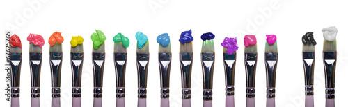 canvas print picture Paint Brushes of palette