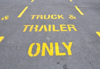 Truck and trailer only sign