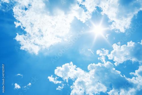 Foto op Aluminium Hemel bright sun