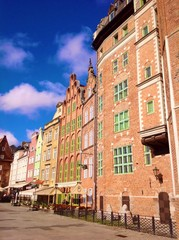 colorful houses in Gdansk
