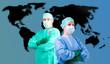 Arzt Ärztin Medizin Isolation Grippe Ebola