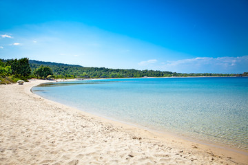 Paliouri sand beach, Halkidiki,  Greece.