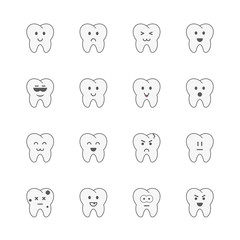 Teeth icons set.