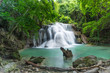 Attractive waterfall in rainforest