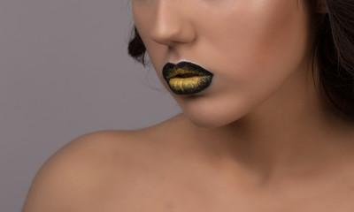 Woman and beautiful lips