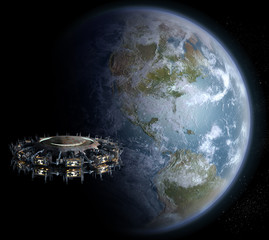 Alien UFO motherships invasion nearing Earth