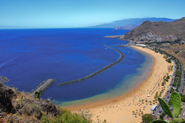 View of Playa de las Teresitas in Santa Cruz de Tenerife